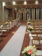 Aisle Arrangements And Wedding Arch